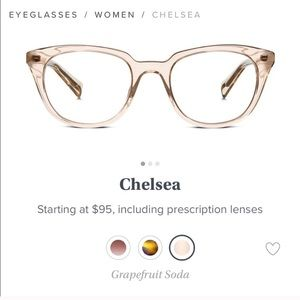 Warby Parker || Chelsea Glasses in Grapefruit Soda